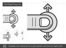 One-finger drag line icon. Stock Images