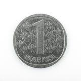 One finish mark isolated on white Stock Photos