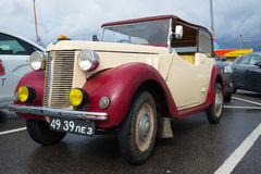 One of the first cars Austin 8 tourer 1939 model year. Exhibition-parade of retro transport Stock Photo