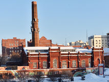 One of the first power plants in Yekaterinburg, Russia Stock Image