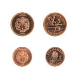 One and Five Dollar Guyana Coins Royalty Free Stock Photo