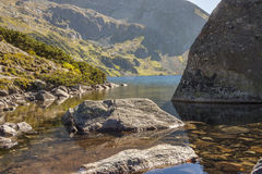 One of Five Lakes in Tatra Mounatins - Poland. Royalty Free Stock Photography
