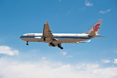 One  flying Air China plane Stock Photography