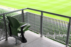 One fold-flat seat on tribune of stadium Royalty Free Stock Image