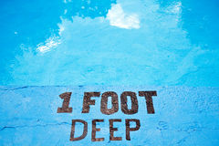 One foot deep Royalty Free Stock Photos