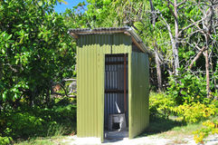 One Foot Island Outhouse Stock Images
