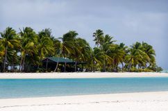 One Foot Island post office in  Aitutaki Lagoon Cook Islands Royalty Free Stock Image