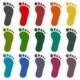 One footprint icons set. Vector icon Stock Photo