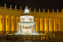 One of the fountains at St. Peter`s Basilica Royalty Free Stock Photos