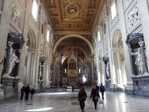 A Papal Basilica in Rome stock photography