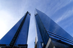 One and Four World Trade Center Buildings Royalty Free Stock Images