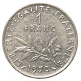 one french franc coin Royalty Free Stock Images