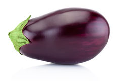 One fresh aubergine isolated on white background Royalty Free Stock Image