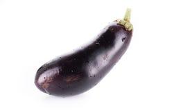 One fresh eggplant isolated on white Stock Photo