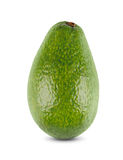 One fresh green avocado closeup isolated on white background Royalty Free Stock Photo