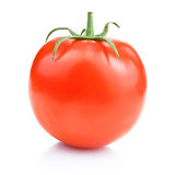 One fresh juicy tomato,  on a white Royalty Free Stock Photo