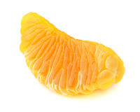 One fresh mandarine slice Stock Photography