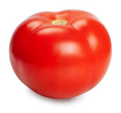 One fresh red tomato isolated on white background Royalty Free Stock Photos