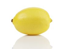 One fresh ripe lemon isolated on white Stock Photography