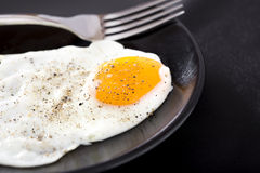 One fried egg Royalty Free Stock Images