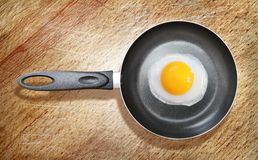 Fried egg on a frying pan Royalty Free Stock Photos
