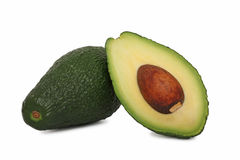 One full and half avocado () Royalty Free Stock Photography