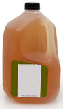 One Gallon Green Tea. Green tea in one gallon plastic jug with blank label royalty free stock image
