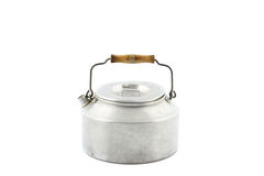 One galvanized tea kettle isolated royalty free stock photo