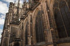 One of gargoyles St. Vitus Cathedral Stock Photos