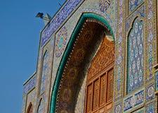 One of the gates of Al-Kadhimiya Mosque Royalty Free Stock Photography