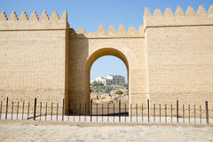 One of the gates of Babylon Stock Photos