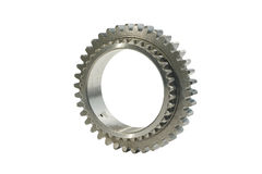 One gear wheel on a white background Stock Photography