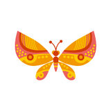 One geometry butterfly Royalty Free Stock Image