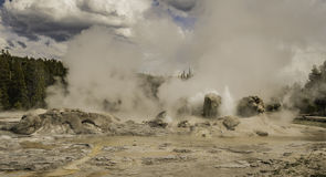 Free One Geyser In Action At Old Faithful Stock Photography - 73462172