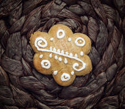 One gingerbread cookie Royalty Free Stock Image