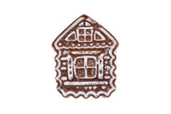 One gingerbread  like a house. On an isolated background Royalty Free Stock Photo
