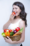 One Girl at Diet Stock Image