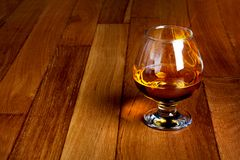 One glass of brandy Stock Photography