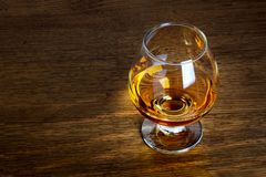 One glass of brandy Royalty Free Stock Image