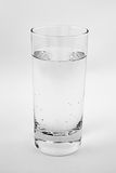 One glass with fresh soda water.  Royalty Free Stock Images