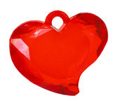 One glass red heart shape Stock Photo