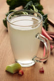 One glass with rhubarb kvass Stock Image