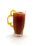 One glass of tomato juice Royalty Free Stock Images