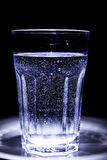 One glass of water. At night Stock Photo