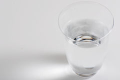 One glass water with white background Stock Photography
