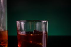 One glass of whisky Royalty Free Stock Photo