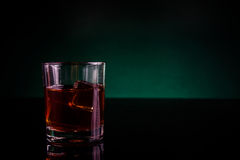 One glass of whisky Royalty Free Stock Photos