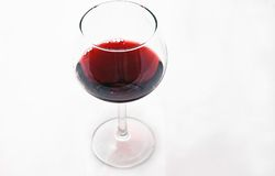 One Glass of Wine Isolated on White Stock Photo
