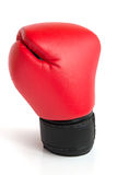 One glove for boxing. One red glove for boxing on a white background Stock Photo
