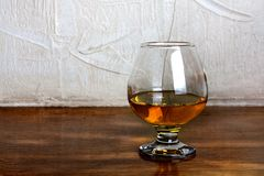 One  goblet of brandy Stock Images